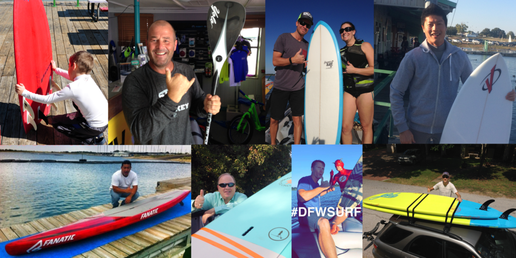 DFW Surf Shop Satisfied Customers