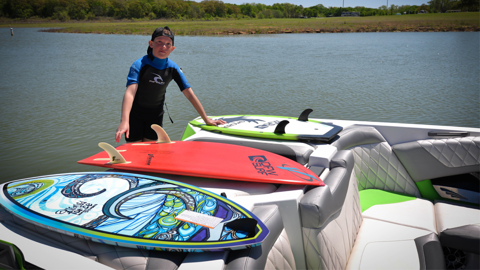 Perry Morrison Team DFW Surf and Tige Boats