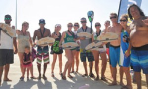 Team DFW Surf dominating the Big Tex Paddlefest in Little Elm