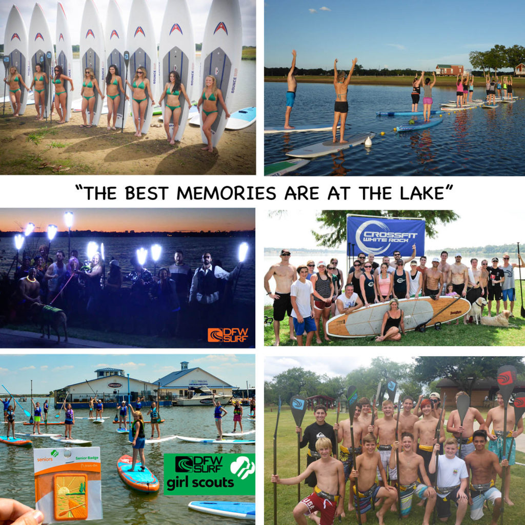 Corporate or team building events at the lake with DFW Surf available in Arlington, Grapevine, Frisco and Little Elm