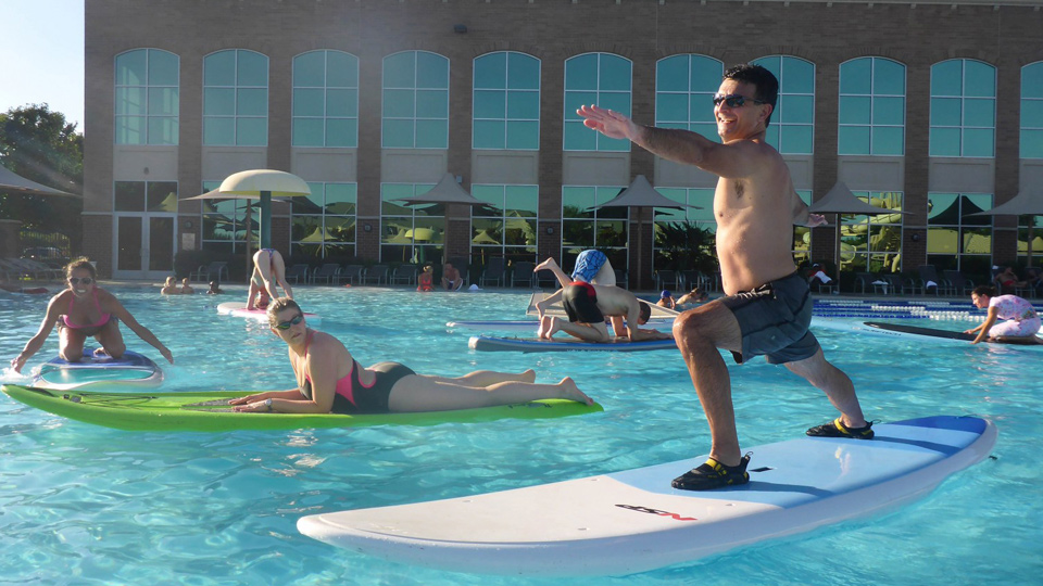 Pool Party Aqua Yoga at Lifetime Fitness