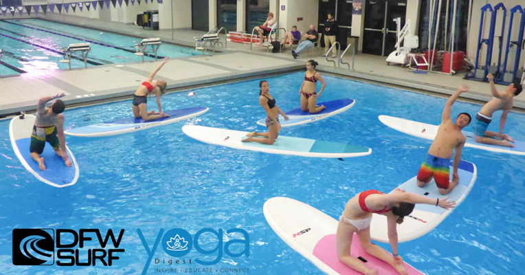 SUP Yoga with the TCU Yoga Club and Jenn Bodnar of Yoga Digest Magazine