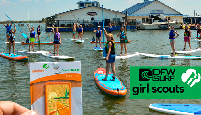 Girl-Scout-Paddleboard-Badge-at-DFW-Surf-Frisco
