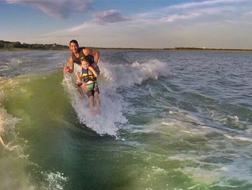 Kids surf free every Tuesday on Lake Grapevine