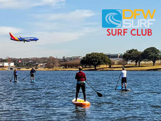 DFW Surf/ Paddle Club at Love Field on Bachman Lake featuring Southwest Airlines