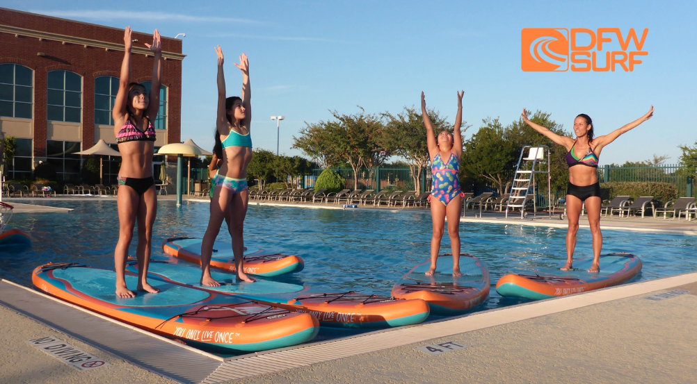 SUP Yoga for Kids at Life Time Fitness
