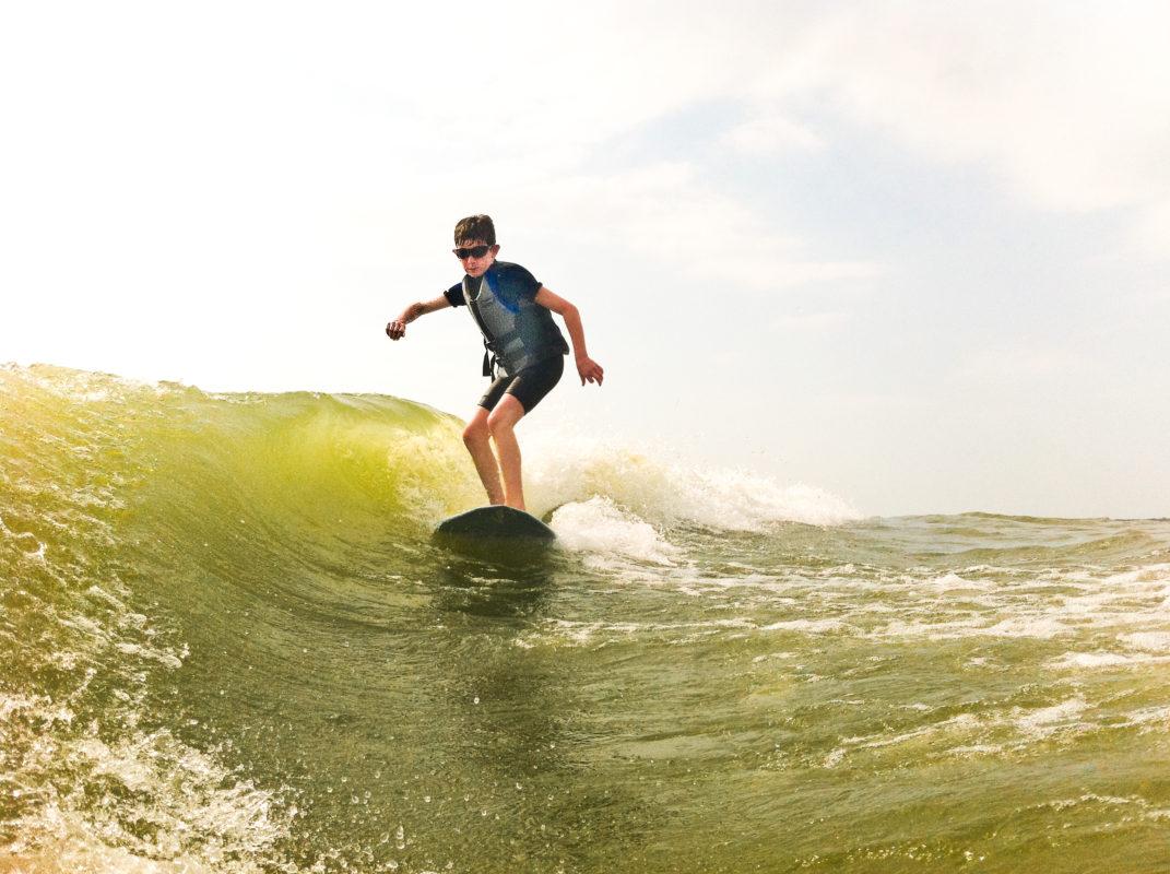 Rafi Margolies Wakesurfing Lake Grapevine