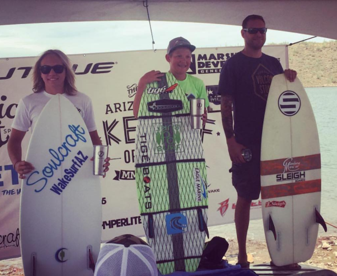 Perry Morrison 1st Place at the Arizona Wakesurf Open