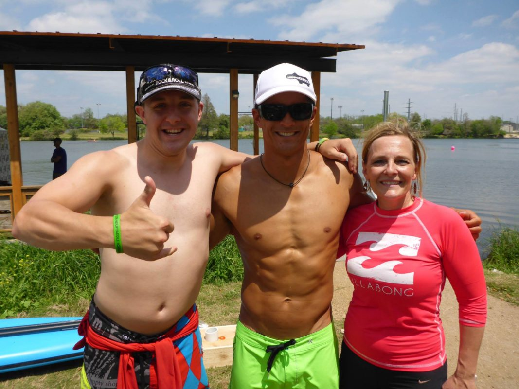 Joe Joe and Debbie Cunningham Turtle Island SUP with Danny Ching