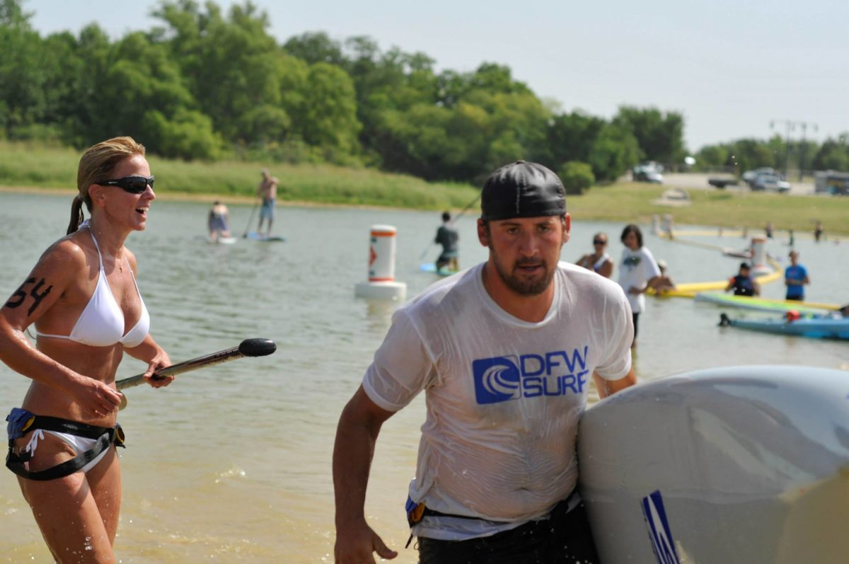Cody Forgy in action at the Big Tex Paddlefest in Little Elm