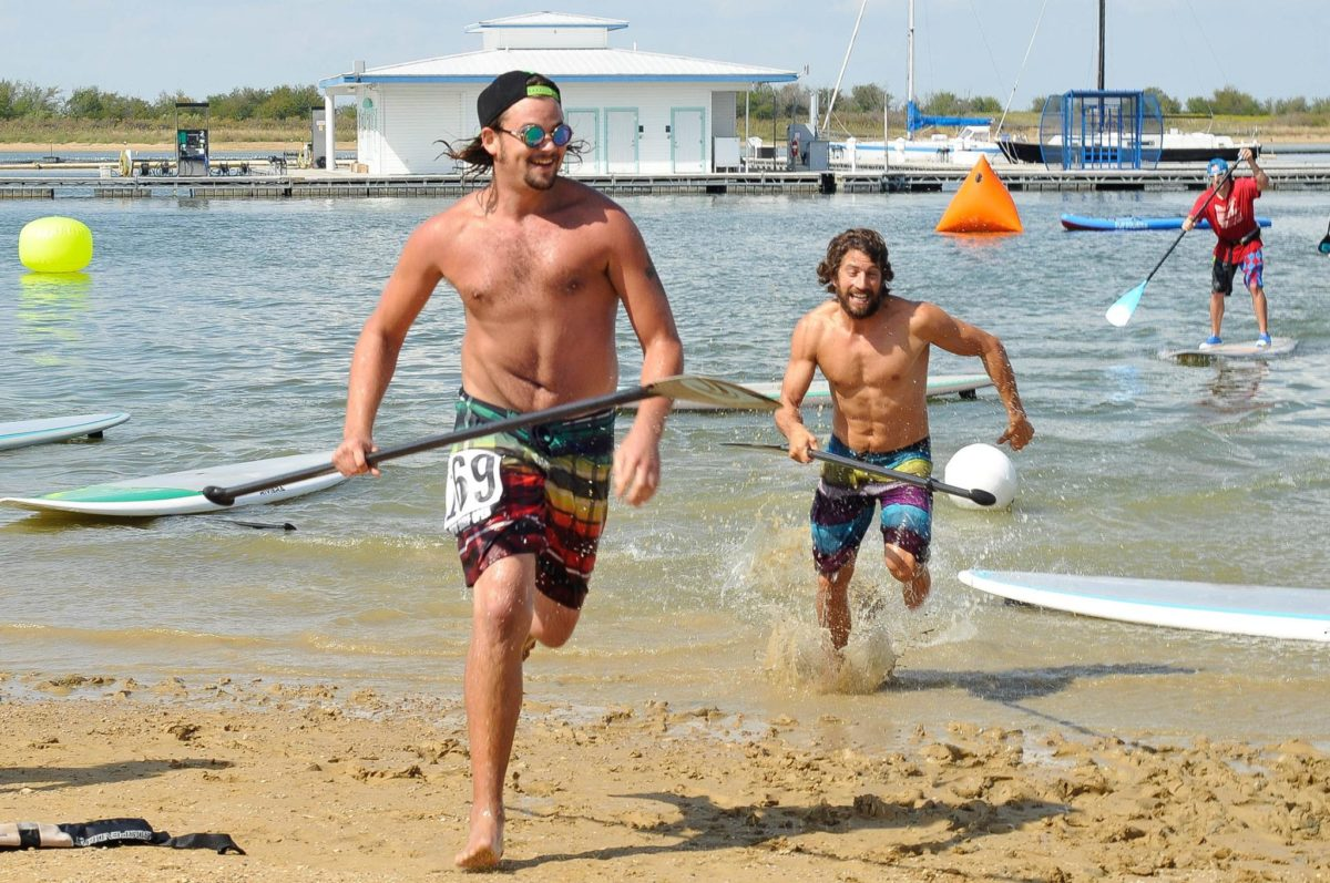 Justin Hammond and Dominic Lagace at the annual DFW Surf Open