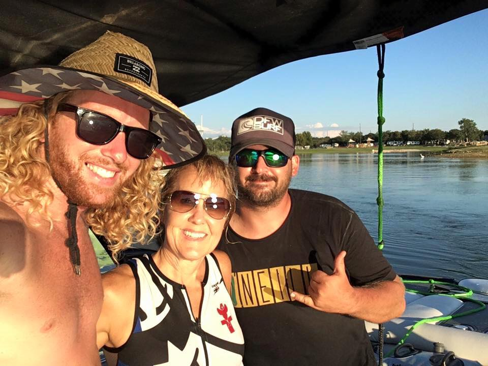 Coach Danny Braught and Cody Forgy wakesurf school