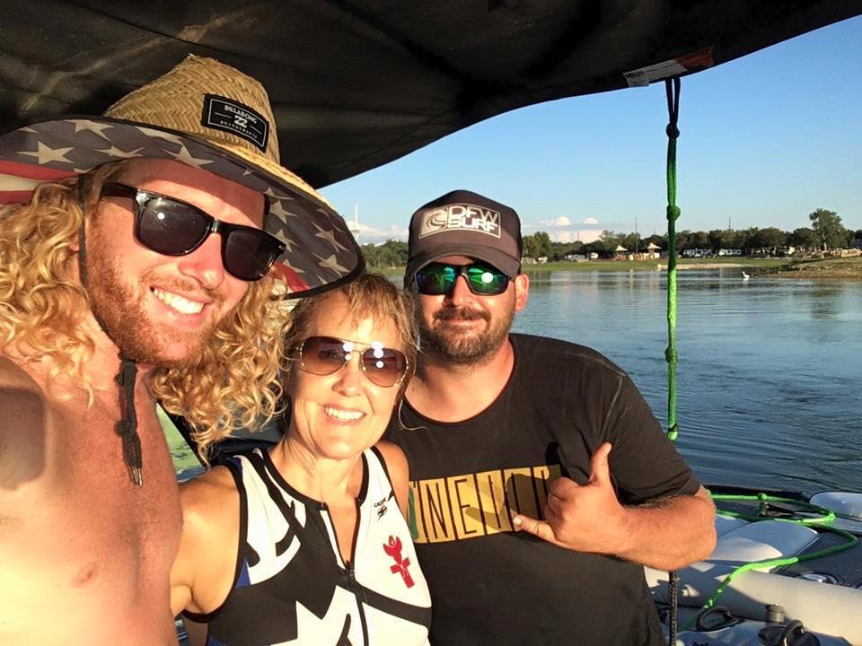 Coach Danny Braught and Cody Forgy wakesurf school