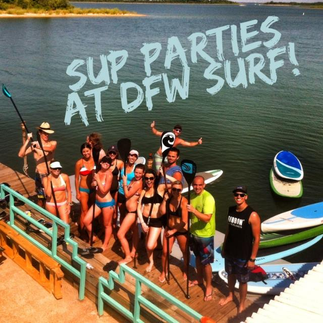 SUP Parties at DFW Surf on Lake Lewisville