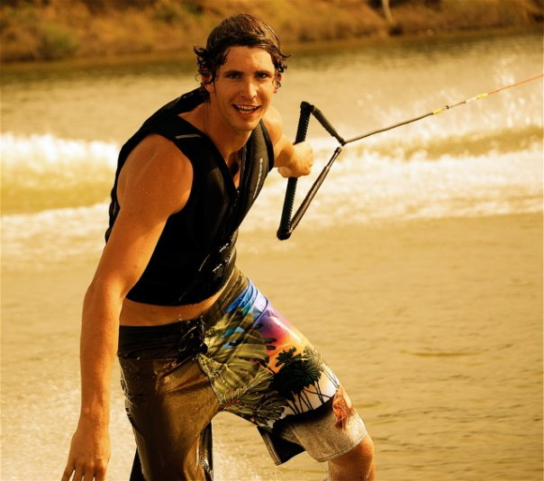 Mikey Gross wakeboarding