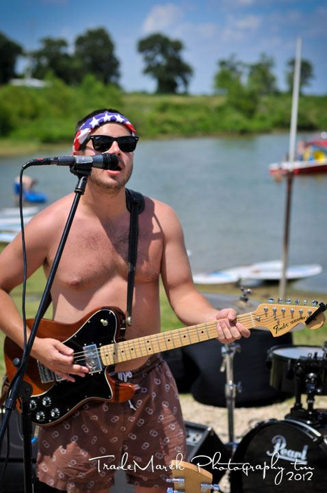 Scott Mccurry Band rocking out lakeside at Scotts Landing Marina