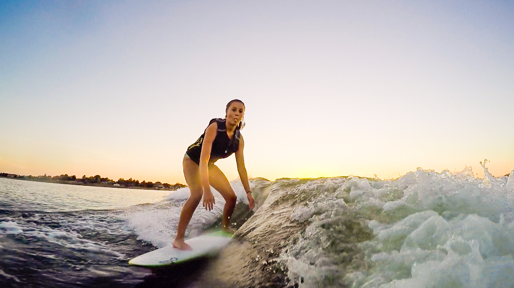Claire Morgan wakesurf national champ