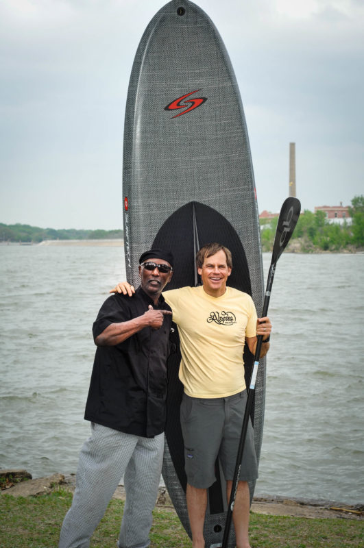 David Hicks White Rock Lake Boat House with a Surftech B1 paddleboard