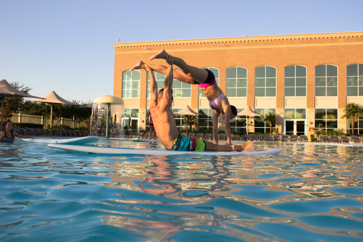 SUP Yoga at Life Time Fitness