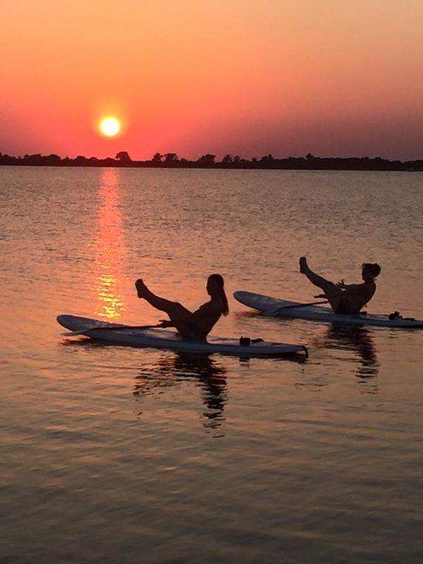 Sunset SUP Yoga at DFW Surf