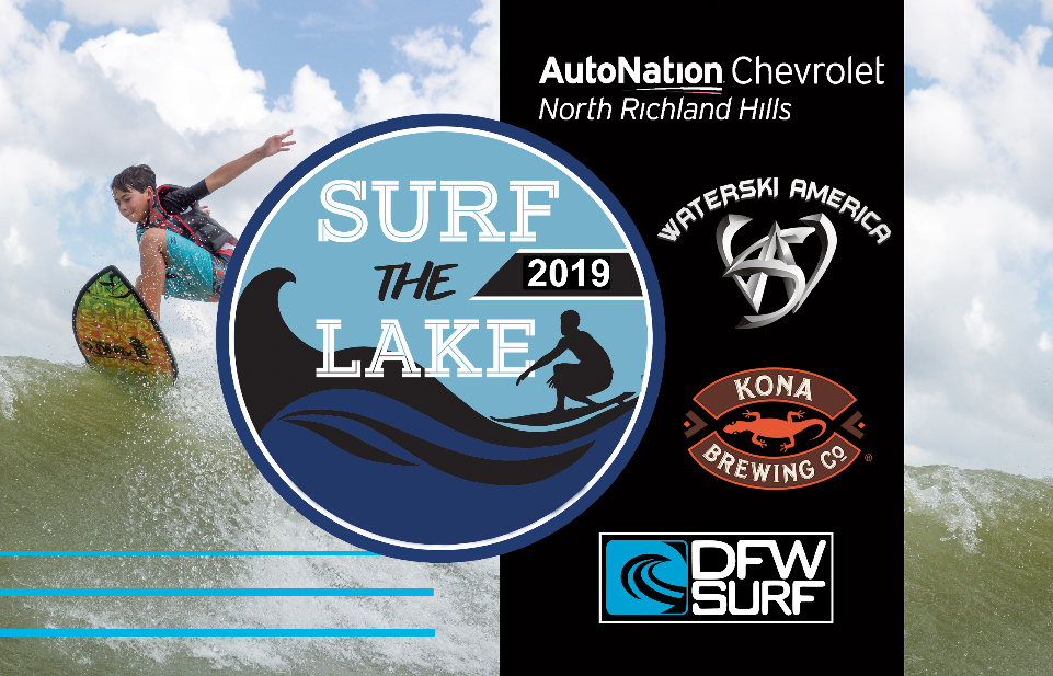 Surf the Lake Wakesurfing contest presented by Waterski America, Autonation Chevrolet North Richland Hills and Kona Brewing Co
