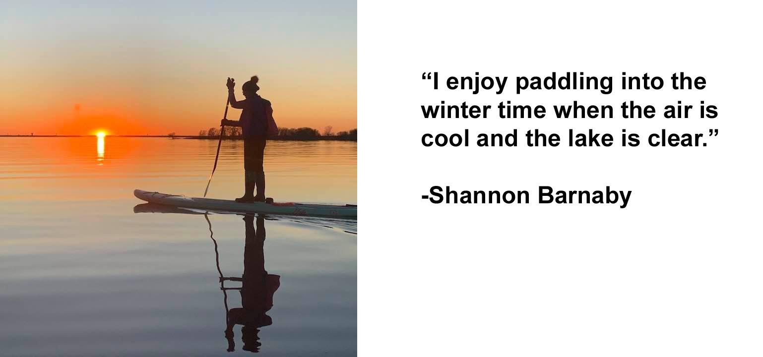 winter time paddling on lewisville lake